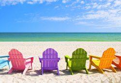 Sanibel beach in Florida