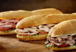 Three sub sandwiches - Subway on Sanibel Island in Florida