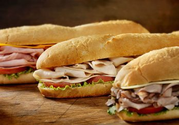 Three sub sandwiches - Subway on Sanibel Island in Florida