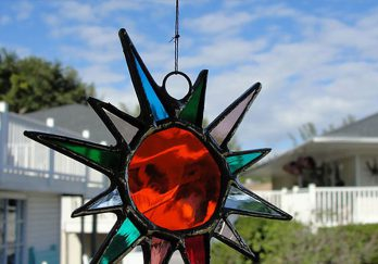 Suncatcher's Dream glass suncatcher, Sanibel Island in Florida